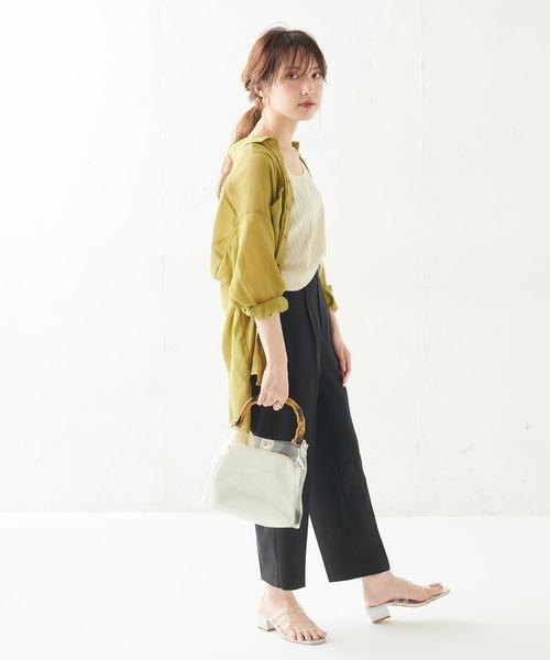 [natural couture] 【WEB限定カラー有り】プチプラ美シルエットテーパードSサイズ