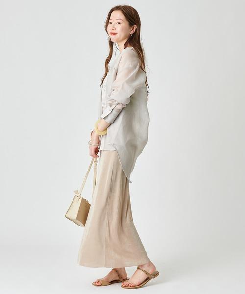 [mystic] シャイニーカラーネットスカート