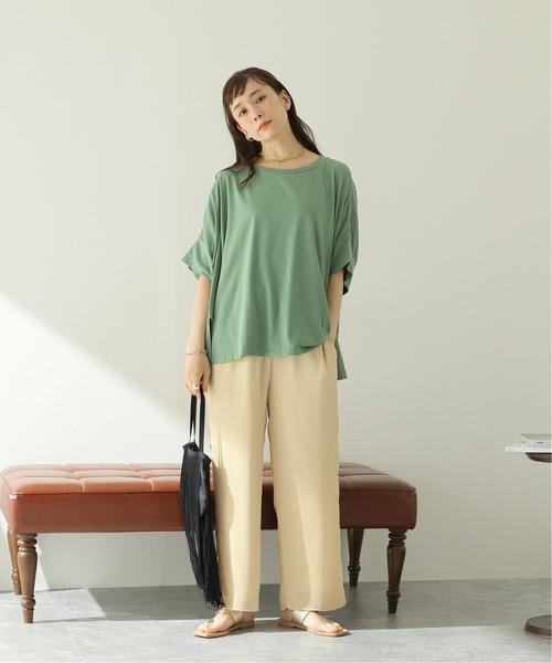 [JOURNAL STANDARD] 【NEU】シルキーコットンワイドTシャツ◆2