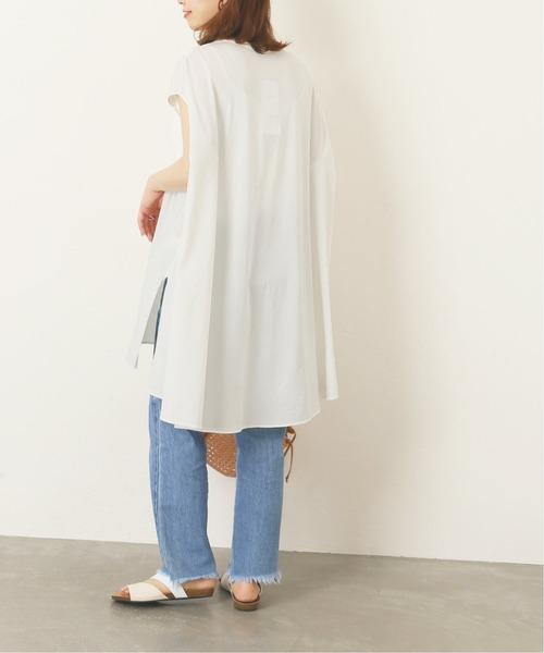 [JOURNAL STANDARD] 【NEU】シルキーコットンノースリーブポンチョTシャツ◆2