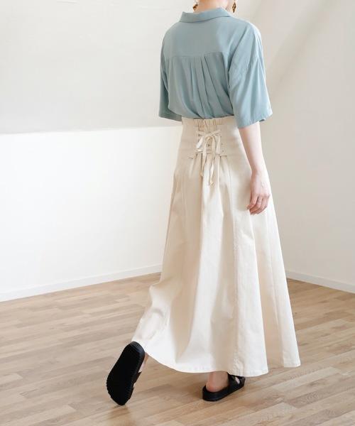 [Bonjour Sagan] 【UNFIELD バックレースアップスカート】