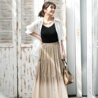 夏の黒キャミソールコーデ【2020】重ね着でも一枚で着てもOKな万能アイテム!