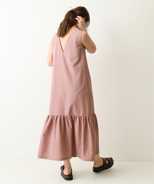 [Spick & Span] Back V ギャザードレス◆