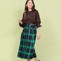 秋の緑スカートコーデ【2020】注目カラーの着こなしポイントを解説♪