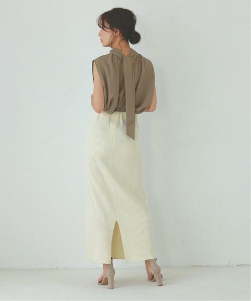 夏 オフィススタイル スカート