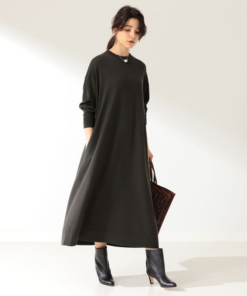 [BEAMS WOMEN] ATON / スローウール ロングドレス