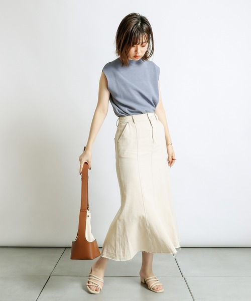 [natural couture] おしゃれノースリニット