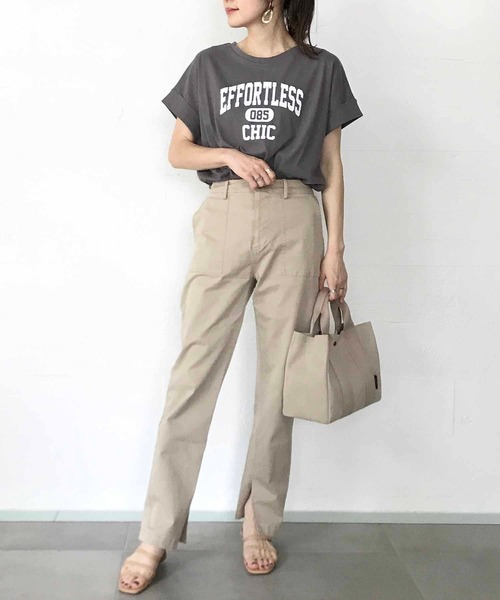 [OUVRAGE CLASSE] ロゴプリントTシャツ