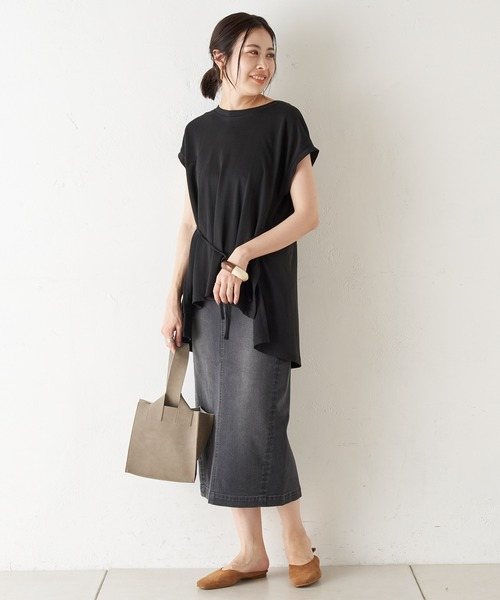 [CIAOPANIC TYPY] スタイルアップIラインデニムスカート