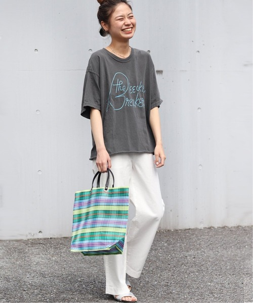 [JOURNAL STANDARD] 【THE DAY ON THE BEACH / ザ・デイ・オンザビーチ】CUT OFF TEE:Tシャツ◆