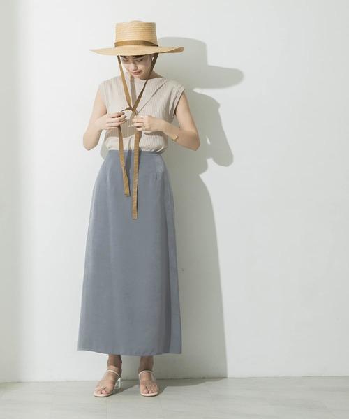 [URBAN RESEARCH] ピーチサテンマキシスカート