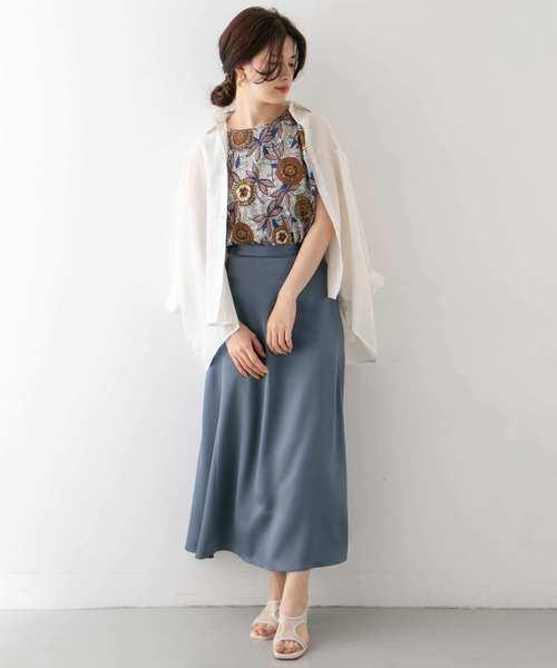 [KBF] サテンAラインスカート