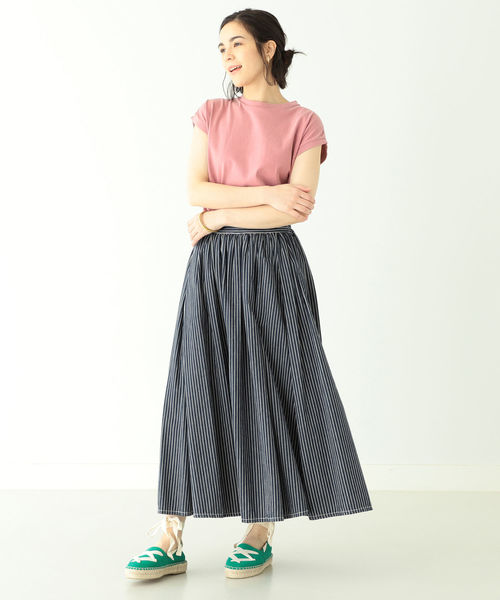 [BEAMS WOMEN] FRUIT OF THE LOOM × BEAMS BOY / ピグメント ノースリーブ Tシャツ 0720CL