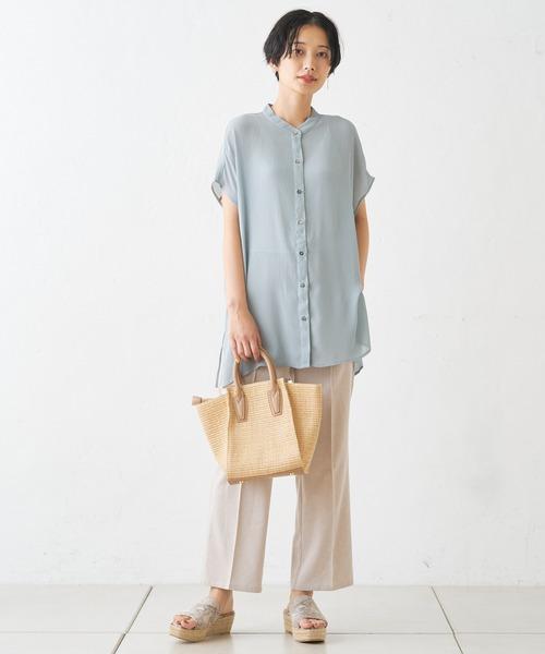 [Discoat] ヨウリュウシアー後ろリボンバンドカラーシャツ