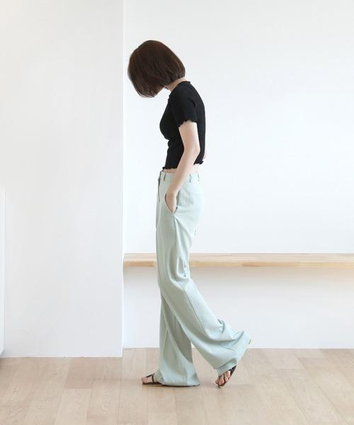 [by muni:r] ウェーブポイント バブルポイント  クロップ丈tシャツ