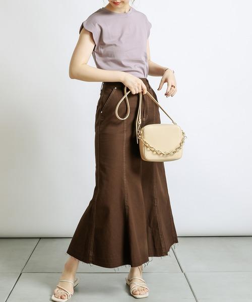 [natural couture] 袖スカラップお上品カットプルオーバー