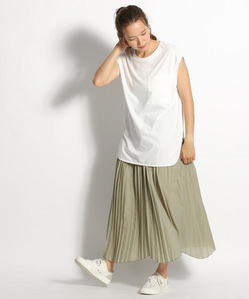 [niko and...] ランダムヘムプリーツスカート