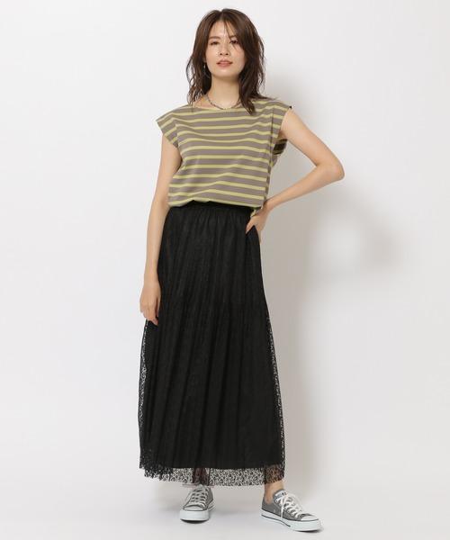 [BABYLONE] レースプリーツスカート