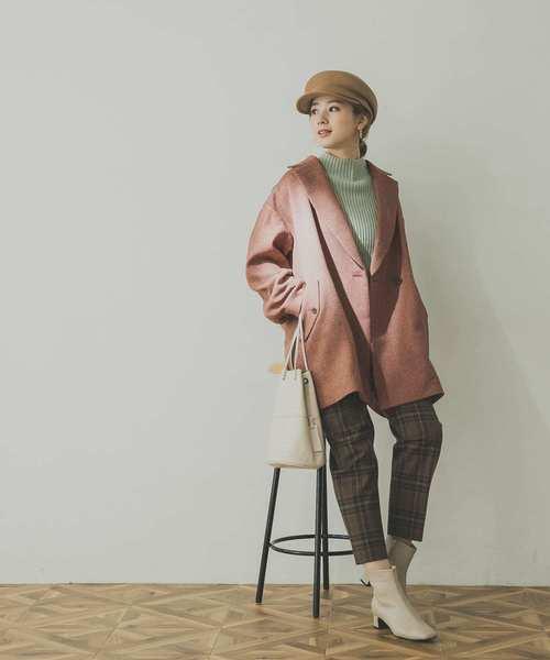 ジャケットコート×パンツの服装