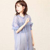 夏のシアーシャツコーデ【2020】羽織りにも使えるトレンドファッション!