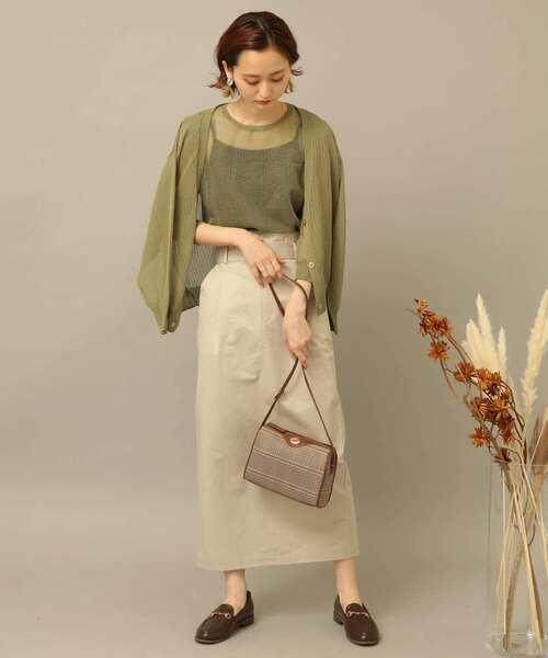 10月中旬の服装|アンサンブル×タイトスカート