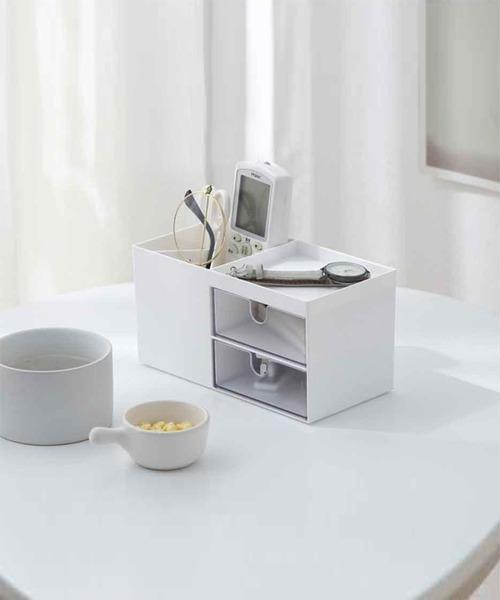[aimoha] メイクボックス 化粧品 収納 化粧品収納ボックス コスメ収納 コスメボックス ホワイト 収納ボックス コスメ 小物入れ メイク収納 卓上 小物収納 コスメケース