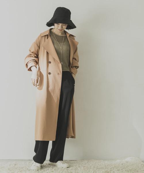 10月下旬の服装|トレンチコート×テーパードパンツ
