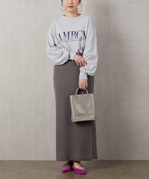 10月中旬の服装|ラップスカート×プルオーバー