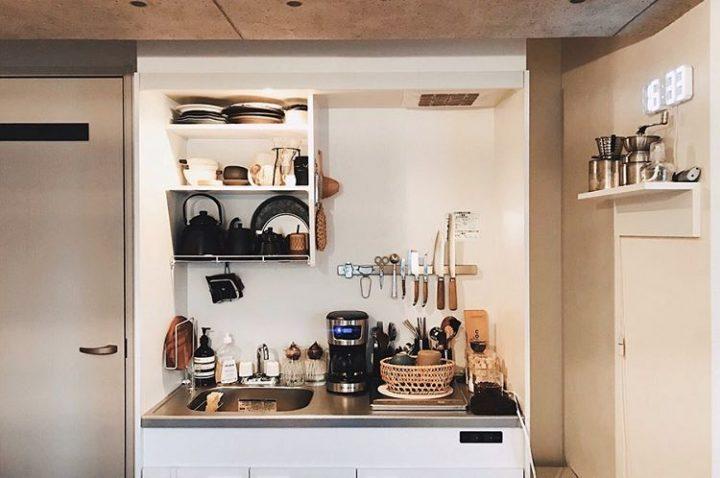 一人暮らしのコンパクトなキッチン