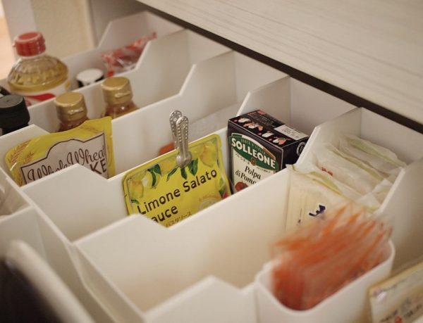 ニトリのファイルケースで調味料・食品収納