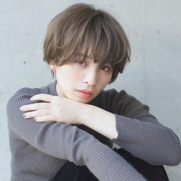 面長さんに似合うショートのパーマ【前髪あり】2