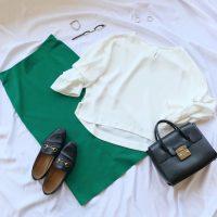 【エピセ毎日コーデ】眩しい日差しにピッタリ♪鮮やかなグリーンとまっさらな白の配色コーデ(7/13コーデ)