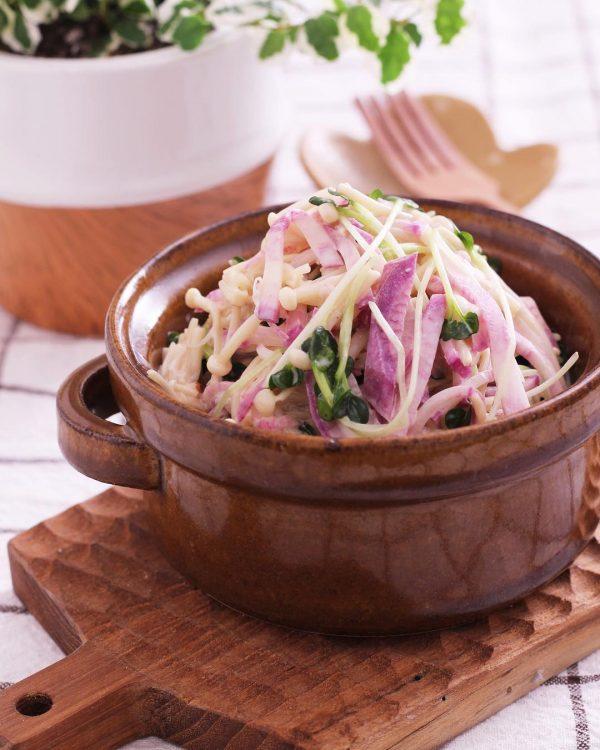 大根とえのきの洋風サラダ