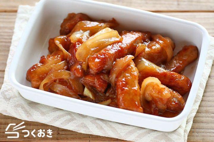 豚肉とたまねぎの甘酢炒め(酢豚風)