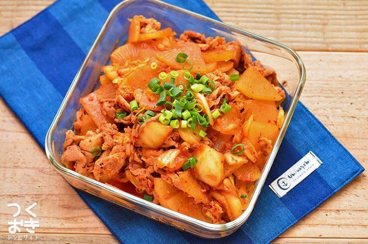 豚肉と大根のキムチ炒め