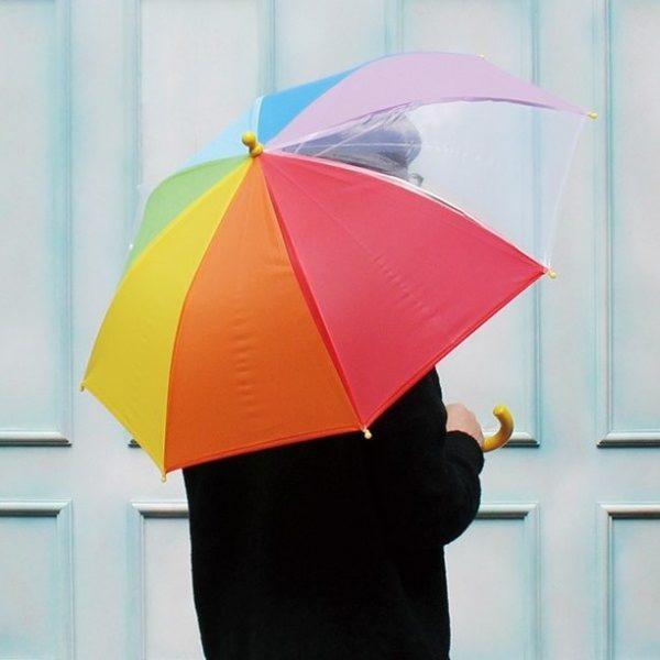 前が見やすいキッズ傘