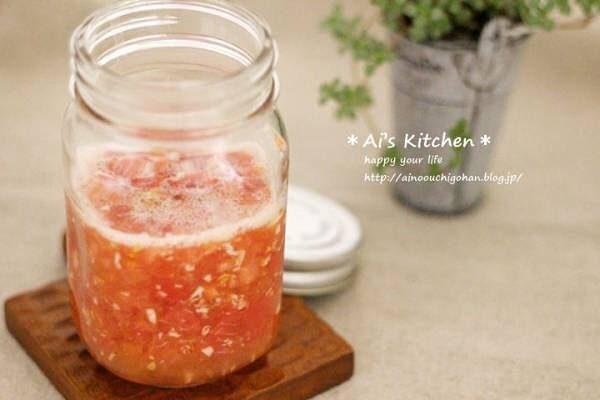 かけて美味しい常備菜レシピ!塩トマト