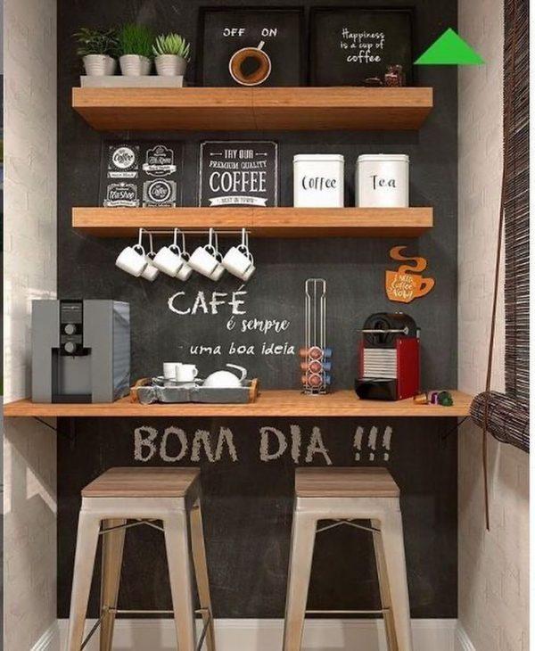 ちょっとした隙間に作るカフェコーナー