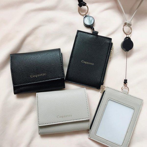 コンパクト三つ折り財布&カードケース