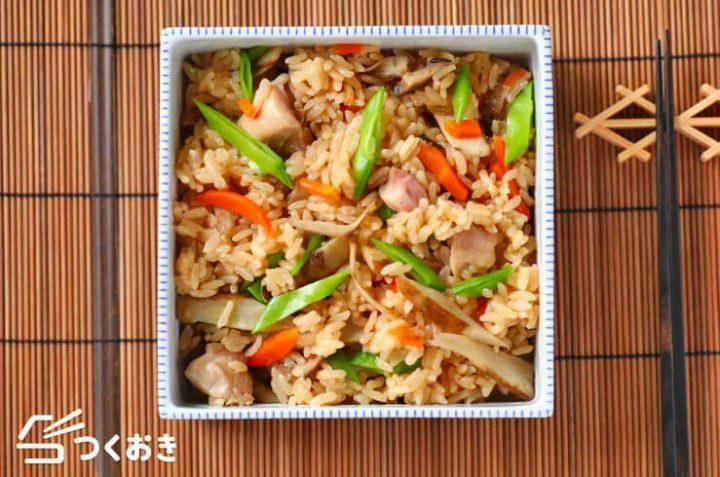 日本の家庭料理!簡単な五目炊き込みご飯