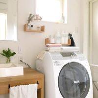 コンパクトなスペースだからこそ!洗濯機を置くランドリースペースのインテリア