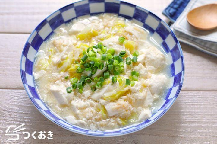 ほっこり和食!ホタテ缶と豆腐のさっと煮