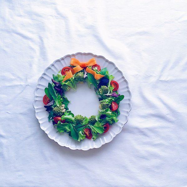 きれいなリースサラダ