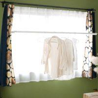 室内干しがらくらく♪窓枠に隠れる室内物干し「Fra Clean(フレクリーン)」