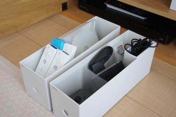 テレビボードにレイアウトしやすいボックス