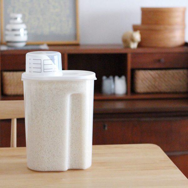 使いやすくお米を保存