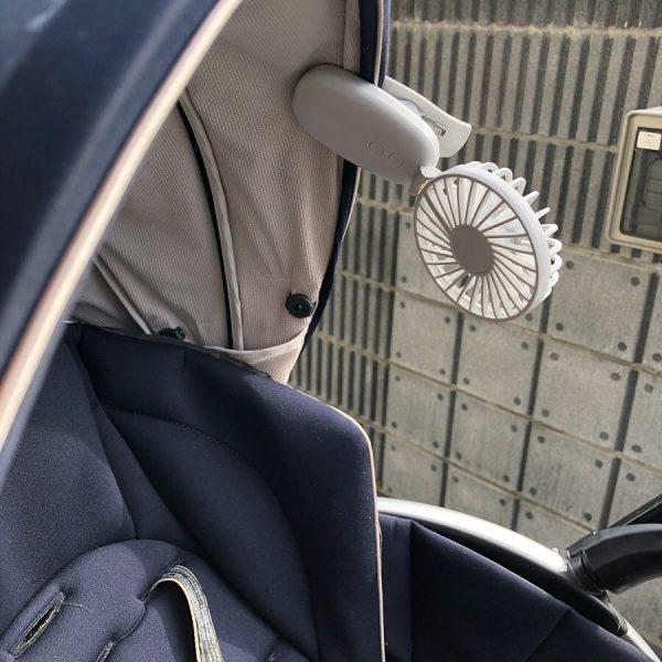 クリップ付き扇風機