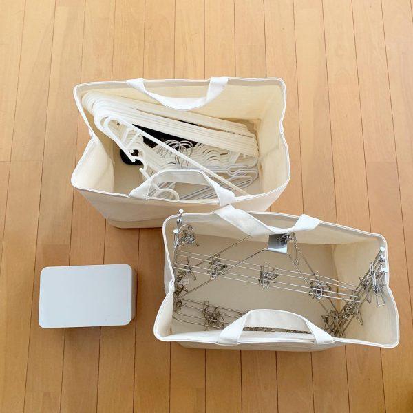 無印良品 持ち手付帆布長方形バスケット13