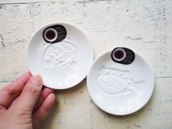 醤油を入れると絵が浮き上がるユニーク皿