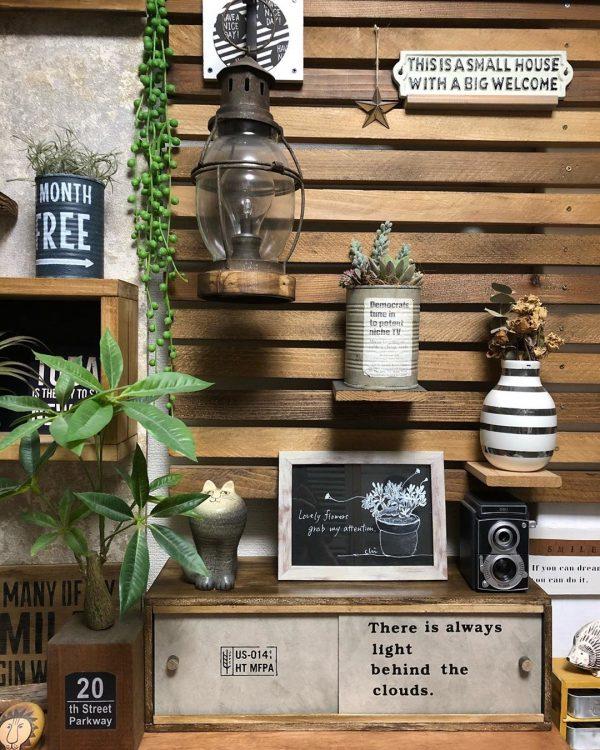 100均木材を活用したアイデア引き戸棚